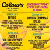 Line-up Colours of Ostrava
